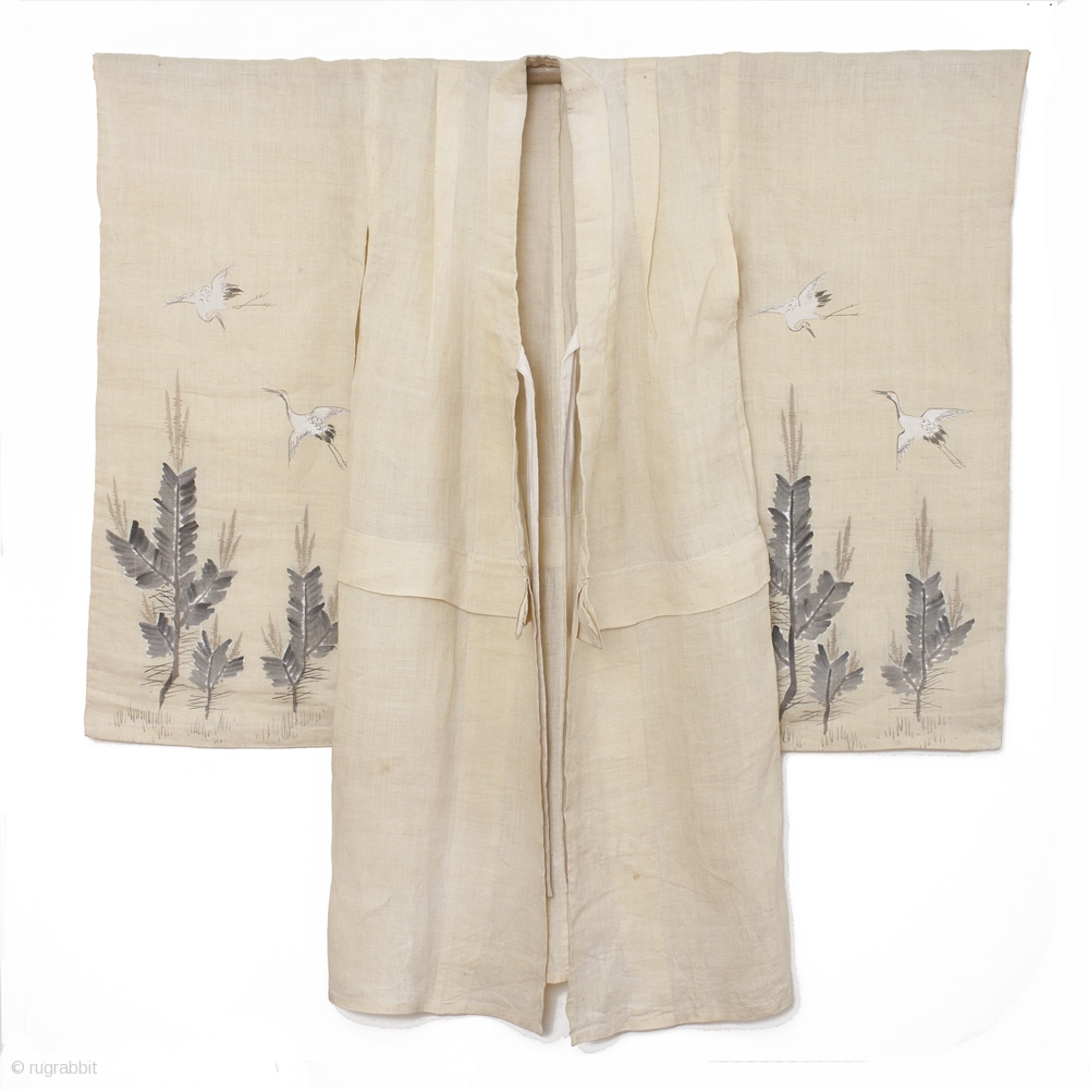This Is A Beautiful Girl S Hemp Kimono With Hand Painted