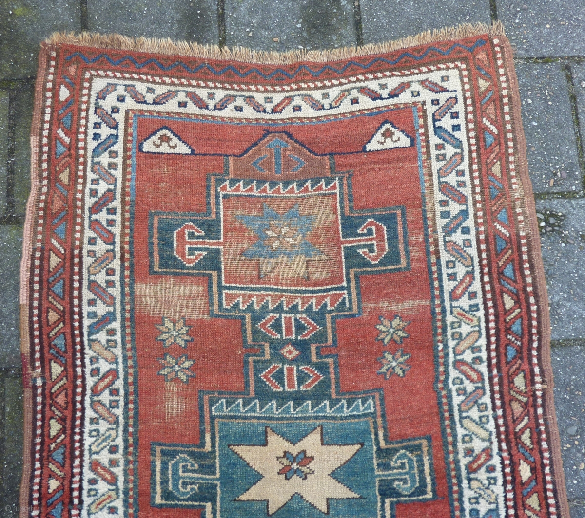 Antique Nw Persian Caucasian Runner 312 X 105 Cm 10 3