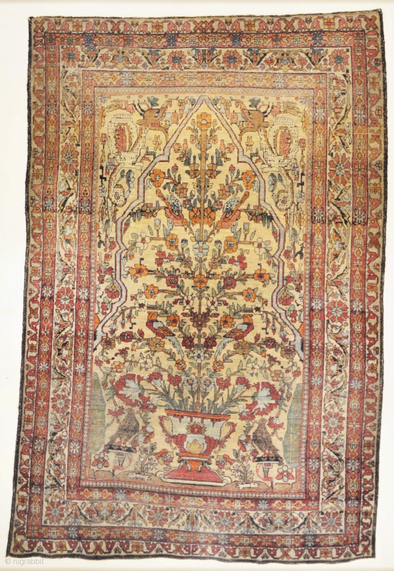 Antique Kermanshah Tree of Life with Mythical Animals Garden of ...