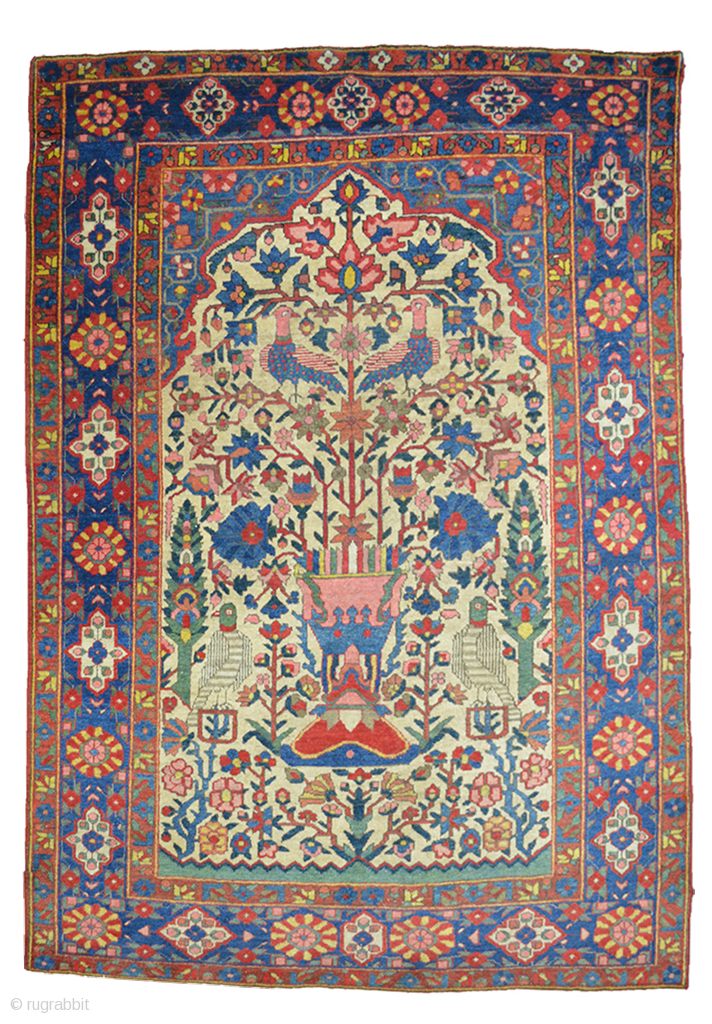 Antique Bakhtiar Rug 195x135cm Circa 1900 Magnificent