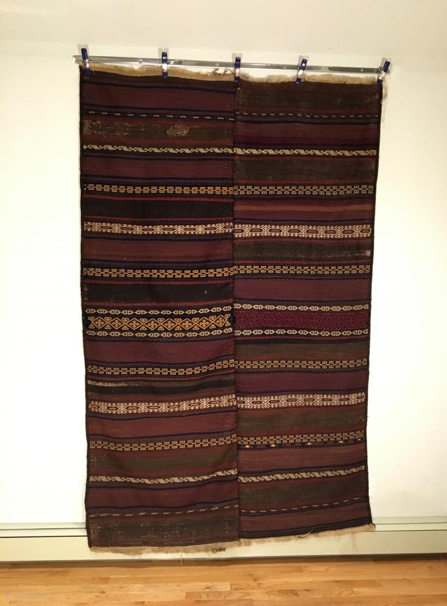 Qala I Nau Baluch Kilim Circa Antique Two Piece Kilim