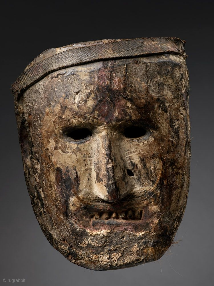 Shamanic Mask Middle Hills Nepal Wood Pigment Rubber