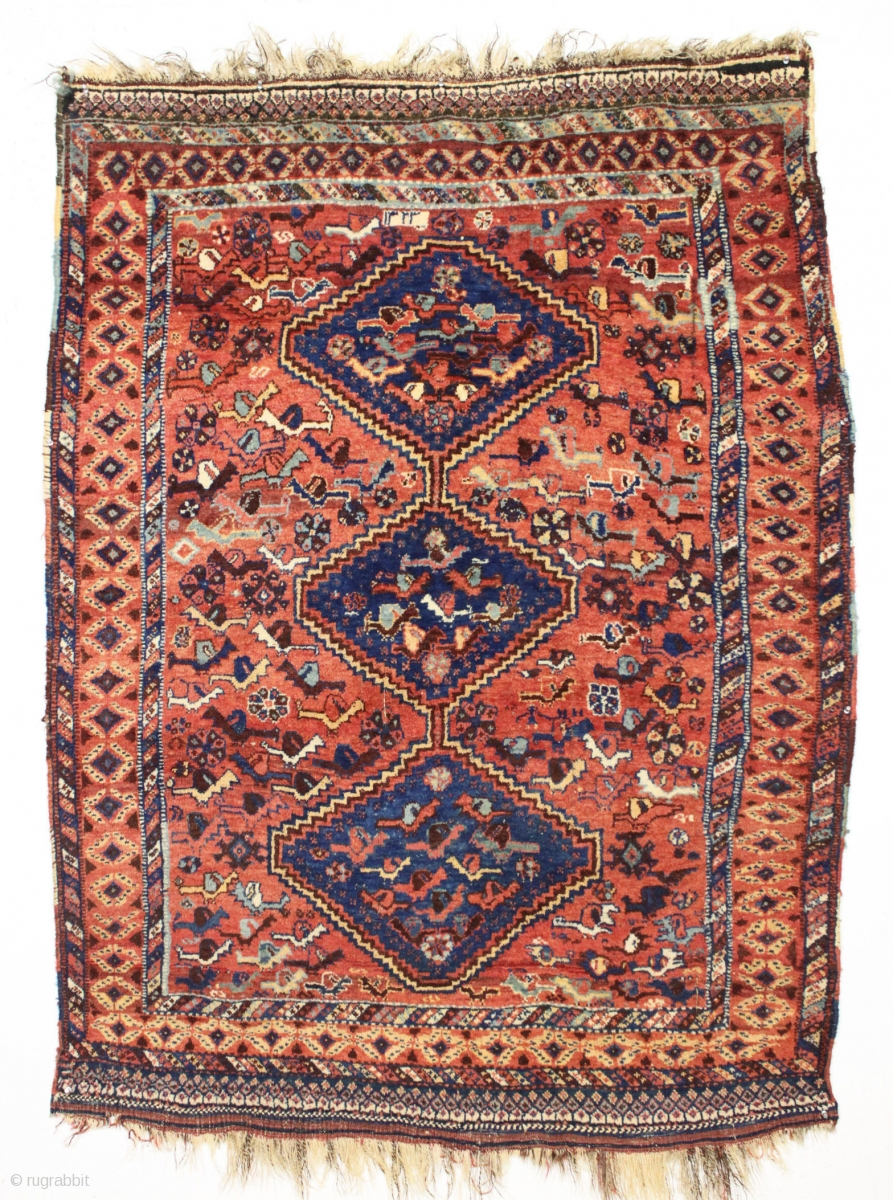Full Pile Antique South Persian Rug With Many Many Birds