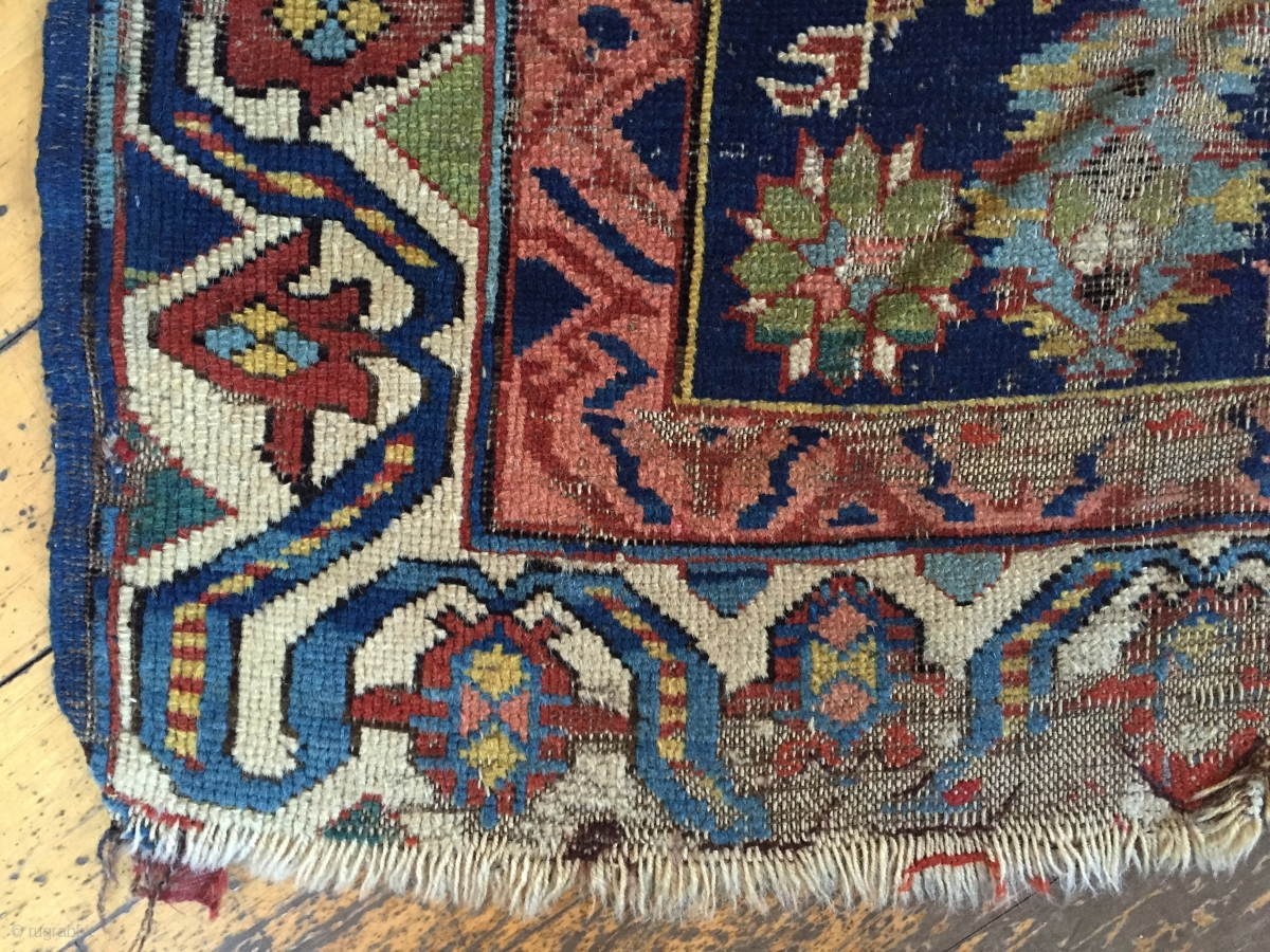 Antique Seichour Kuba Long Rug With An Eye Catching Border