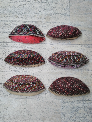 Turkmen hats Silk embroidery