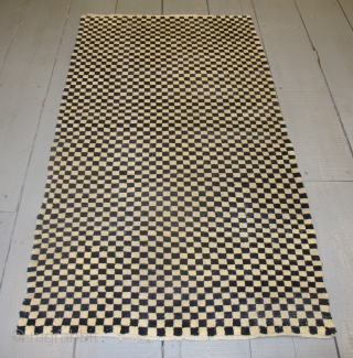 "Tibetan Checkerboard Rug, 1.62m x 0.93m (5'3"" x 3'1"")