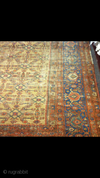 """From 1860's. Mahal-Sultanabad.  Size:  12'9""""x9'6"""""""