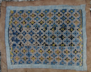 Bouyi Wedding Blanket:Antique wedding blanket from The Bouyi aka Buyi ethnic group, Libo Village, in Guizhou. All natural dyes and hand spun materials (silk weft embroidery on cotton field), circa late 19th  ...