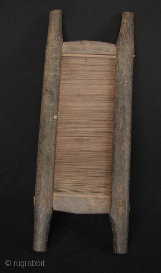 Thai Akha Back Strap Loom: Nice old weaving element from an Akha backstrap loom, circa 50 or 60 years old. Good condition and patina, still quite functional. Held together wood pegs. L:  ...