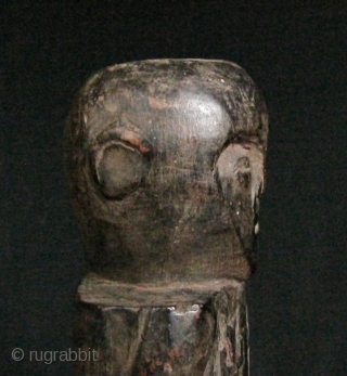 """Timor Ancestor Statue: Old Timorese hard wood statue commemorating a departed loved one. These were kept in the """"attic"""" of a home and were not meant to be free standing. I bought  ..."""