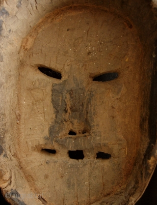 Taoist shaman's mask from the Yao (Mien) ethnic group from Vietnam. Circa 60 to 90 years of age. Jess Pourett suggests, in his excellent book on the Yao, that masks with horns  ...