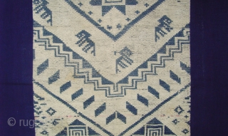 Rare Early Tai Daeng blanket. cotton supplementary weft. Mid 19 Century.   For more detailed photos see. http://www.ekdecor.com/antique-laotian-textiles-ceremonial-blankets/10094/