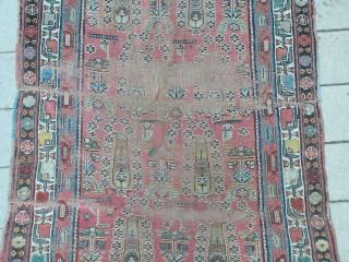 Mazanderan, Antique nw Persian rug 106x400 cm
