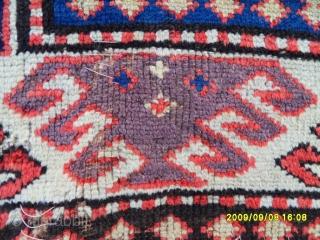 Antıque Caucasian Kazak Borchalu Fragment size: 145x130