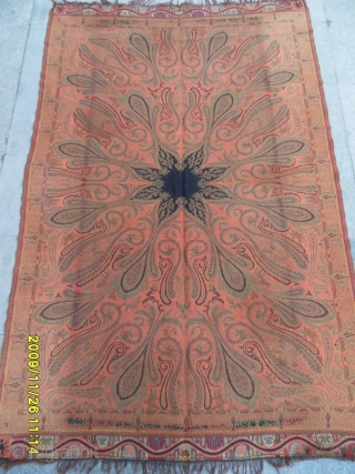 Antique Kirman Textile Perfect Size: 210x143