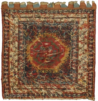 Featured in our web exhibition entitled 'Front/Back - A Collection of Exquisite Small Persian Tribal Weavings' visible on www.albertolevi.com , this is a sumak bag face from the Shahsavan tribe located in  ...