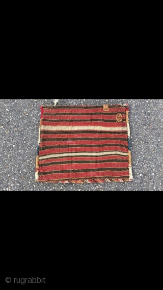 Glorious Jaf with unusual wide pattern. Best colors and wool. Original closure system intact and back preserved. One you keep looking at. Professionally hand washed. Size 19.7 x 24.4 inch (50 x  ...