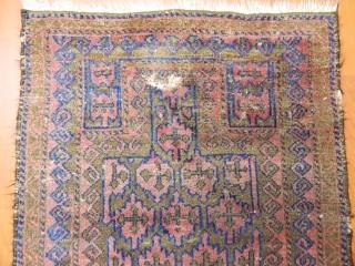 Antique Baluch Prayer Rug  Size.105x95cm