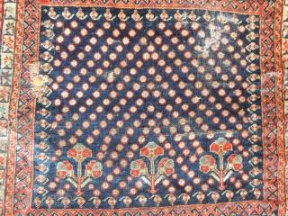 Antique Qashqaii Qasquli Rug Bagface  Size.51x58 cm