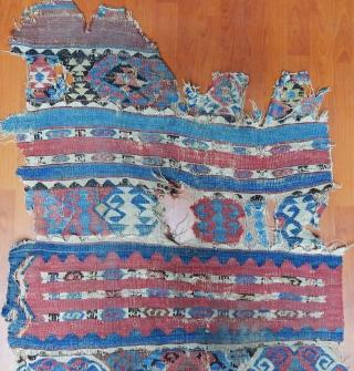 Antique Anatolian Kilim Fragment  Size.250x95cm