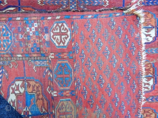 Antique Turkment Tekke Main Rug