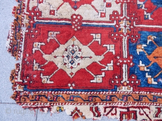 Antique West Anatolian Bergama Holbian Rug