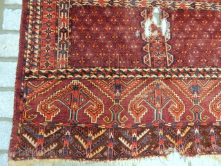 Antique Turkmen Yamut Ensi Rug