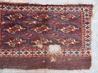 Antique Turkmen Yamut Chuval Fragment