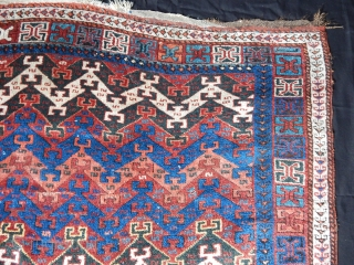 Antique East Anatolian Rug Fragment  size.114x112cm