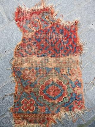 Antique West Anatolian Ushak Rug Fragment