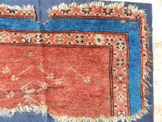 Antique Anatolian Konya Karapınar Rug Fragment