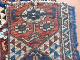 Antique West Anatolian Karakeçili Rug Bordur Fragment  Size.80x28cm 32x27cm