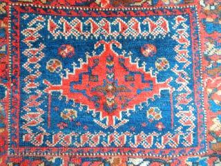 Antique Khamseh Rug Bag Face