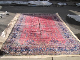 "antique lilihan 8' 9"" x 12'good condition some wear"