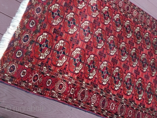 "measures 4' x 5' 8"" great drawing very nice condition super clean no issue turkoman tekke rug."