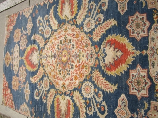 """antique oushak late 19th century fragment worn and beautiful colors 5' 5"""" x 9'.SOLD  SOLD            SOLD      ..."""