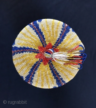 Late 19 century American a lovely lady's beaded bag.