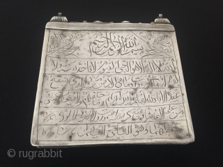 Central-Asia Antique turkoman teke silver box with cornalian On the back size of the box is writing Islamic for good-luck! Circa-1900 Height'10cm'-width'10cm'-Thickness'1cm'-Weight'120gr' Thank you for visiting my rugrabbit store!