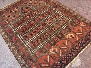 Afghanistan thin handmade hand-woven carpet Size : 136cm x 100cm - Thank you for visiting my rugrabbit store !