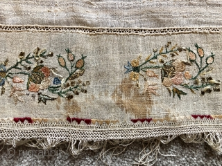 Antique Turkish ottoman towel ca 1870 size 195 x 50 cm