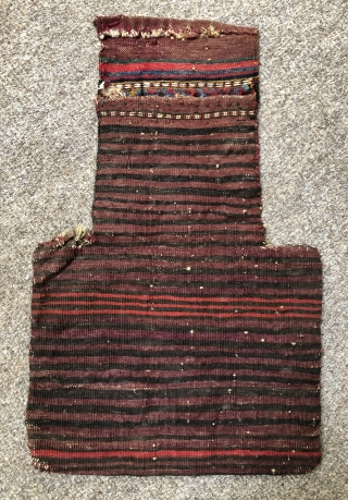 Antique flatwoven salt bag made by the Kurds of Khorassan ca 1910 size 52 x 33 cm
