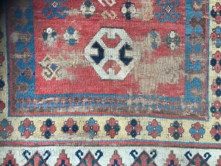 Lovely early 19 c Kazak rug size 183 x 132