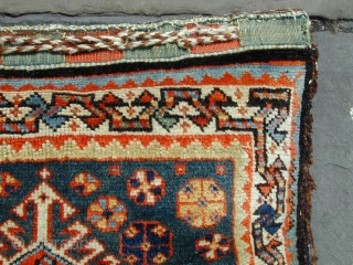 "Nice complete antique Qashqai bag late 19C size 21"" by 21"".