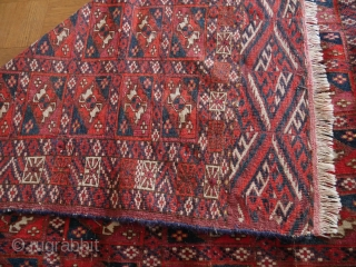 Tekke Boukhara Turkoman Turkmen aina gul rug tribal 19th century 4ft 3in x 3ft 4in (132x103cm) price  : 150 € + shipping from Paris