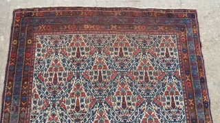 Antique persian abshari carpet . Size 5.5 by 4.2 feet.