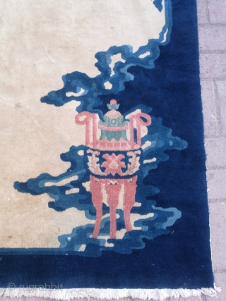 Antique Chinese carpet. Excellent condition. Size 3 by 5 feet.