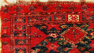 A 19th Century Beshir Torba  Size 98.5 x 41 cm  A naively drawn mid to late 19th century Beshir Torba in fair to good condition. Selvedges are mostly intact but as the photos  ...