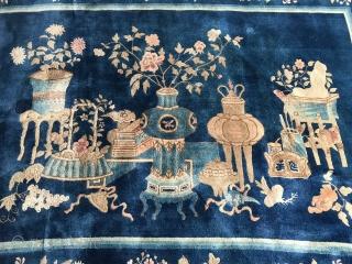 """Beautiful antique chinese Bao-Tou rug. 260 x 180 cm / 8'8"""" x 6'."""