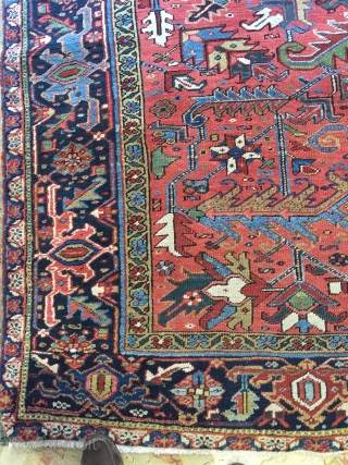 Beutiful Antique Heriz rug  generally good condition late 19th century size 320x240