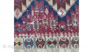 "South-east Anatolian Adana Kilim Size:310x156cm / 10'10""x5'1"""